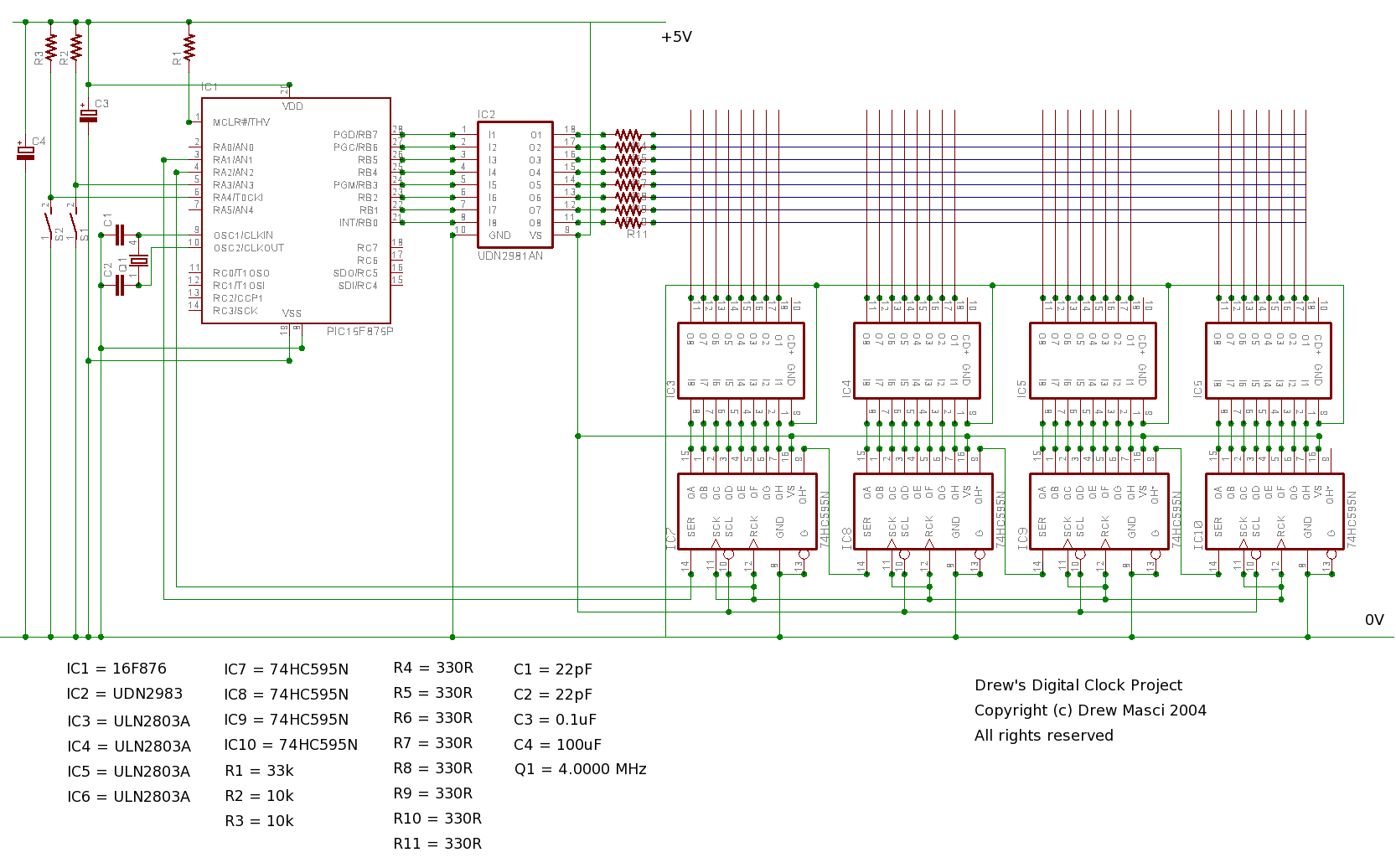Xcsb Structured Pic Basic Led Wiring Diagram Controller Driver